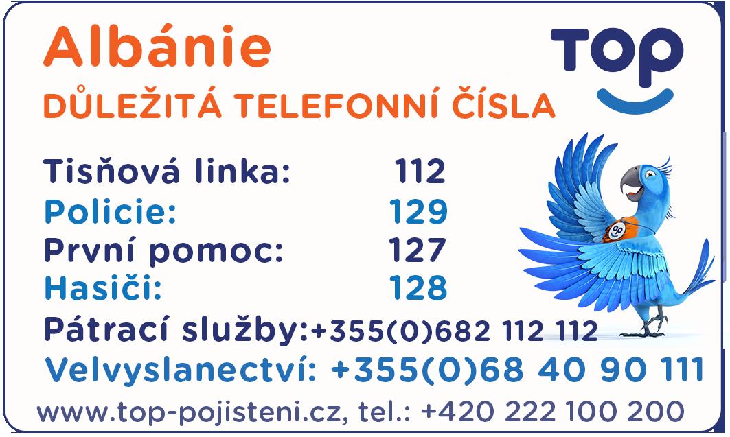 Důležité kontakty - Albánie